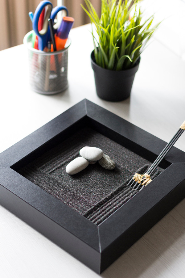 Simple black zen garden