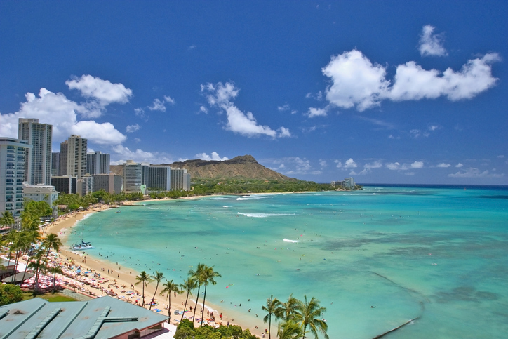 Diamond Head and Waikiki Beach in Honolulu