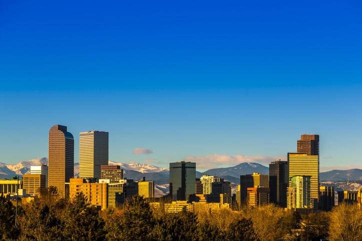 Skyline view of downtown Denver, Colorado