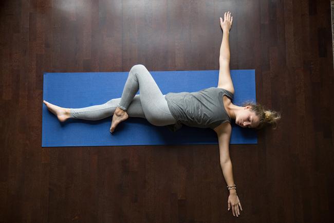 Yoga at home: Jathara Parivartanasana Pose