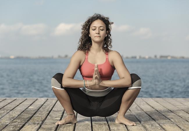 Yoga malasana or squat pose