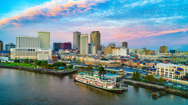 New Orleans, Louisiana, aerial view