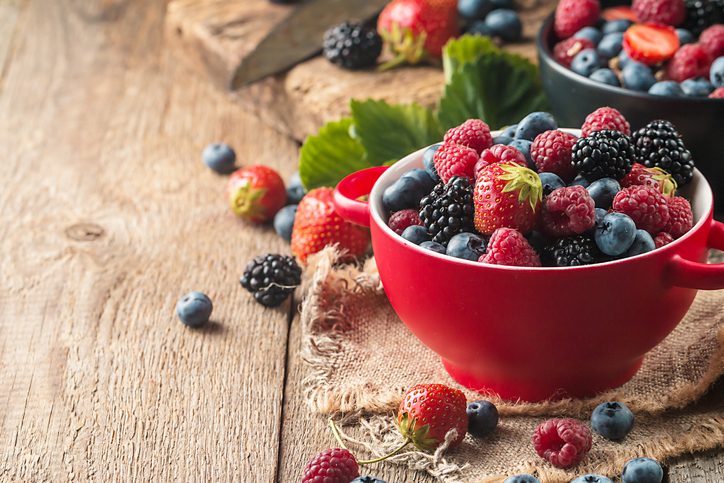 different berries in bowl