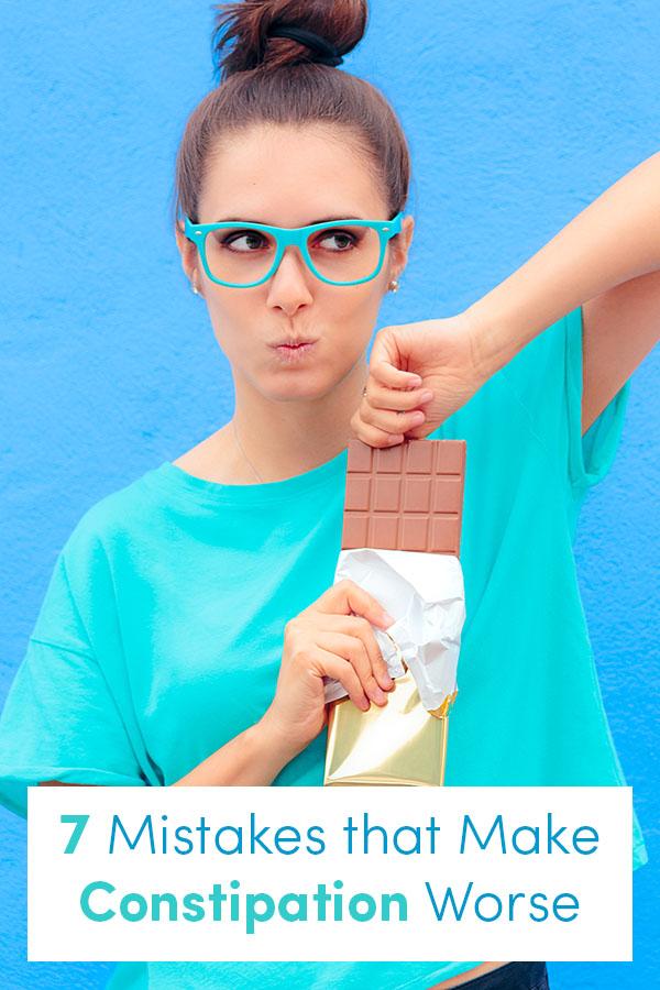 woman holding a chocolate bar