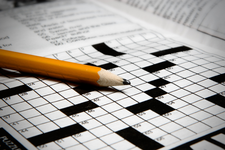 A pencil and a crossword puzzle