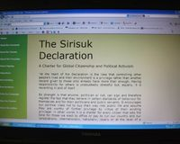 The Sirisuk Declaration - Charter for Citizenship & Activism