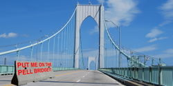 Install a median barrier on the Newport / Pell Bridge now!