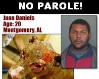 NO PAROLE FOR JUAN DANIELS DOG ABUSER!