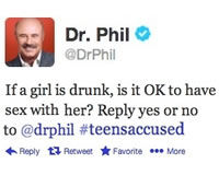 Ask Dr. Phil to Apologize for Outrageous Tweet
