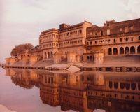 Yamuna River and Vrndavana