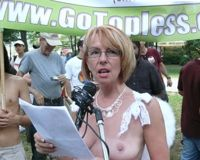Women's constitutional right to go topless in public