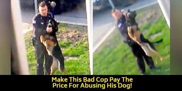 Cop abusing K9 dog