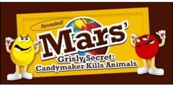 Tell Mars Candy- Stop Animal Experiments