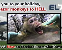 Boycott El-Al AirLies, transporter of Mazor Farm monkeys to Hell