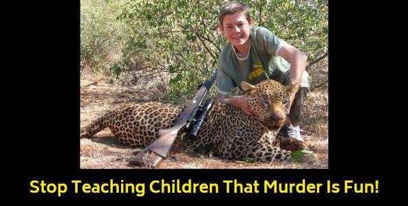 child trophy hunter