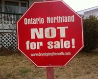 ONTARIO NORTHLAND NOT FOR SALE