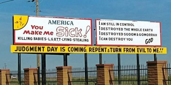 petition: A Community of Love- Remove billboards of hate and