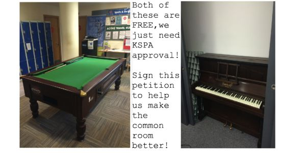 Petition Lets Get A Pool Table And Piano For The KSpa Common Room - How wide is a pool table