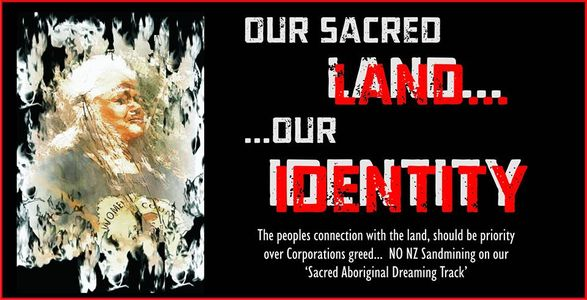 Sacred Aboriginal land in NSW is about to be decimated by an Australian/New Zealand sandmining compa