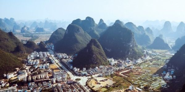 China, stop bulldozing mountains that affects wildlife, air & water to build cities!