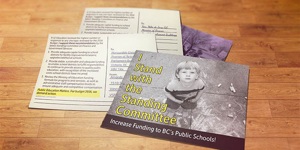 Citizens Demand Increased Funding to BC's public schools! We Stand with the Standing Committee!
