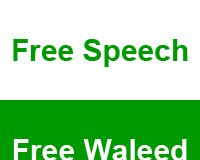 Freedom for Waleed, irreligious blogger and activist