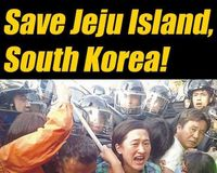 Stop building military bases, violating human rights, and destroying the biodiversity of Jeju Island