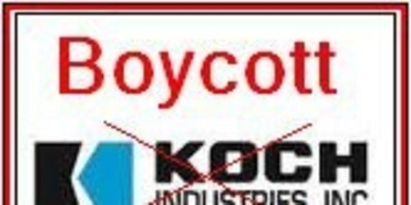 BOYCOTT THE KOCH BROTHERS